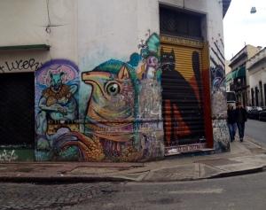 Street corner graffiti