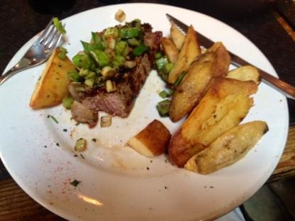 Steak at Pasajes Baratos at San Telmo