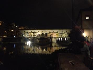 Ponte Vicchio at night.