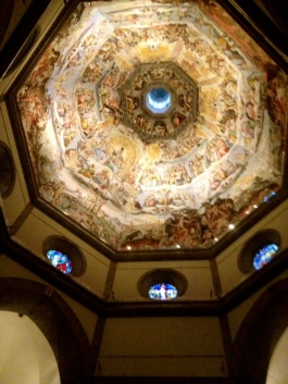 the dome inside the Duomo