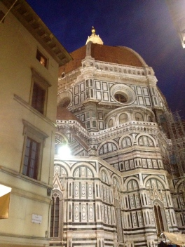 The enormity of Duomo at night