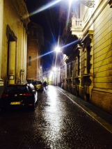 Night street in Parma