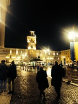 Square in Parma at night