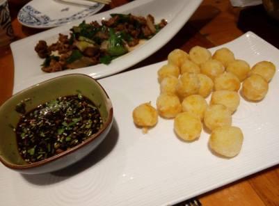 Yunnan food, its actually fried cheese ball. so delish