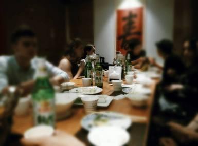 Fun time with classmates, eating Yunnan food!