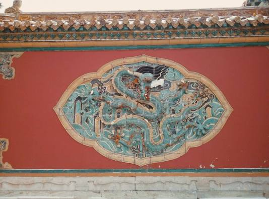 The five claws dragon of the Qing dynastry. The North Tomb 北陵公园